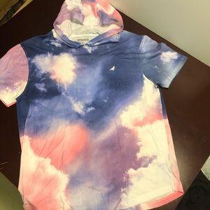 Staple pigeon tie-dye short sleeve hoodie XL